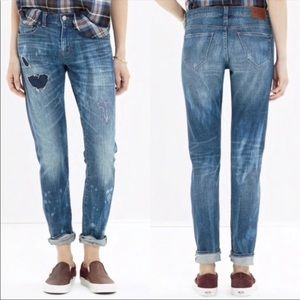 Madewell Slim BoyJean Rip & Repair Boyfriend Jeans